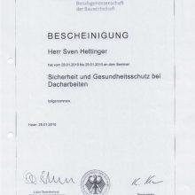 """""""Sicherheit und Gesundheitsschutz bei Dacharbeiten"""""""