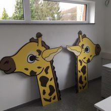 Wir sind auf die Giraffe gekommen.